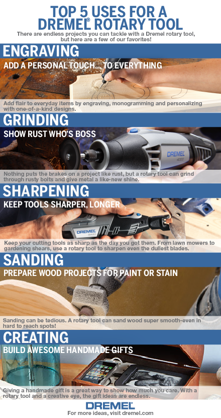 we're often asked what our favorite uses are for a #dremel rotary ...