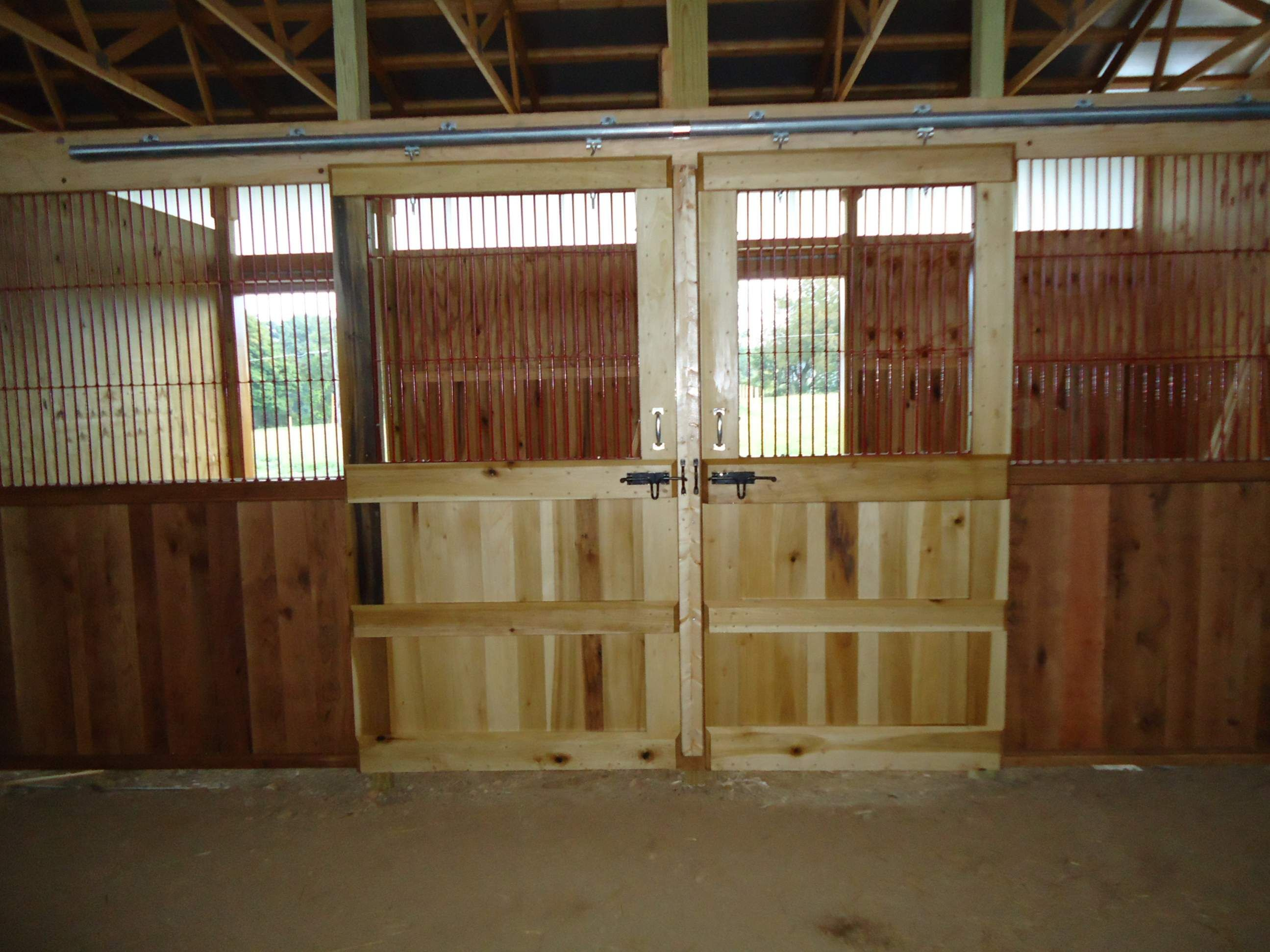 diy stalls idk how sturdy these are and how well they would work but this is a neat idea horse stall photos - Horse Barn Design Ideas
