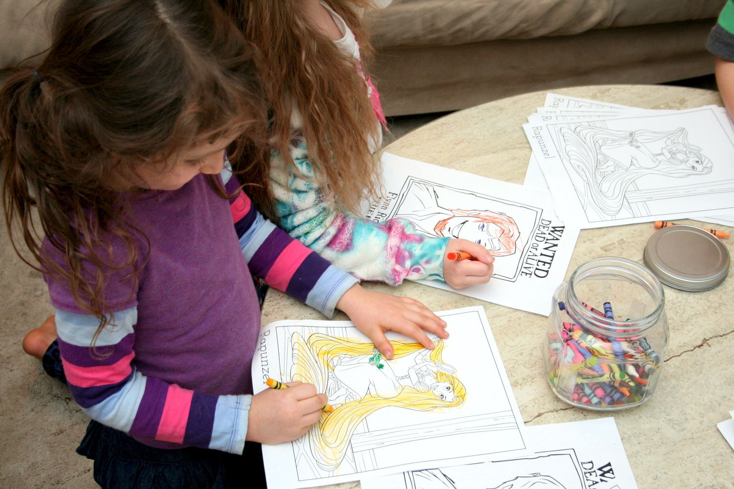 Tangled coloring leads to link for free tangled printable coloring