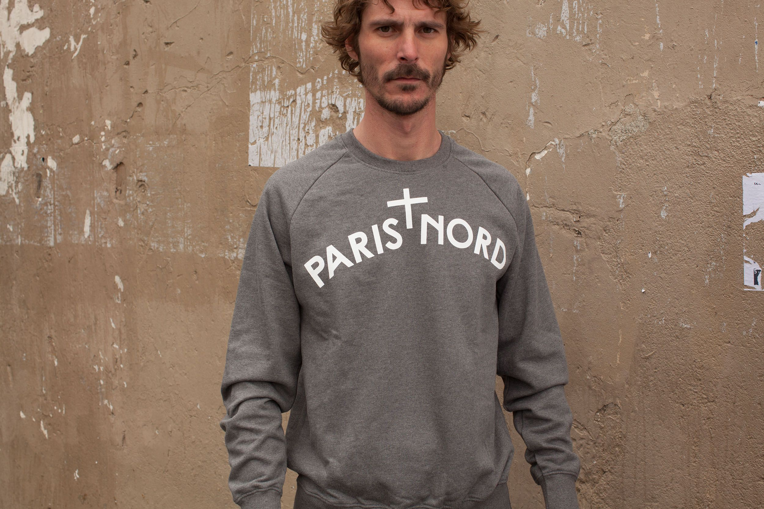 With Paris Grey White LogoNord Sweatshirt NordDark pqSUMVGz