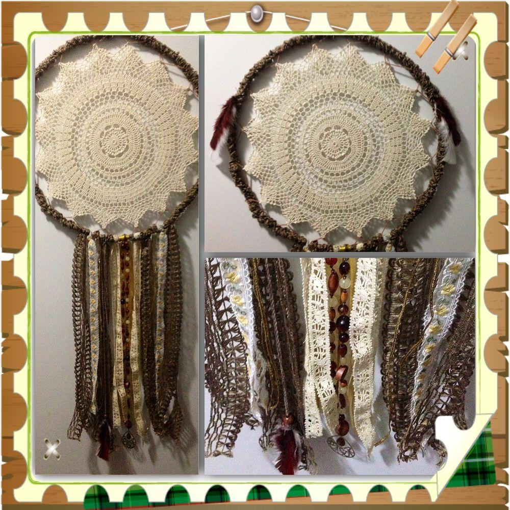 #Dreamcatcher Homemade 35cm - Crochet - nsking70@bigpond.com http://www.madeit.com.au/detail.asp?id=819222