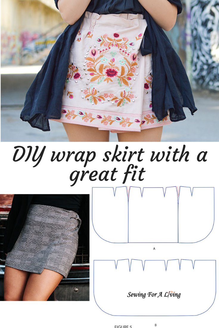 How to make a wrap skirt with a great fit (avec images)