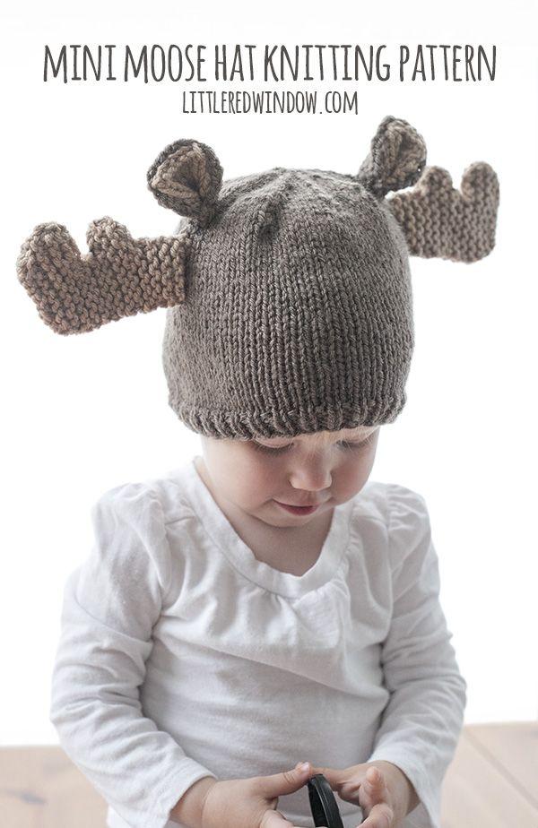 Mini Moose Hat Knitting Pattern | Stricken