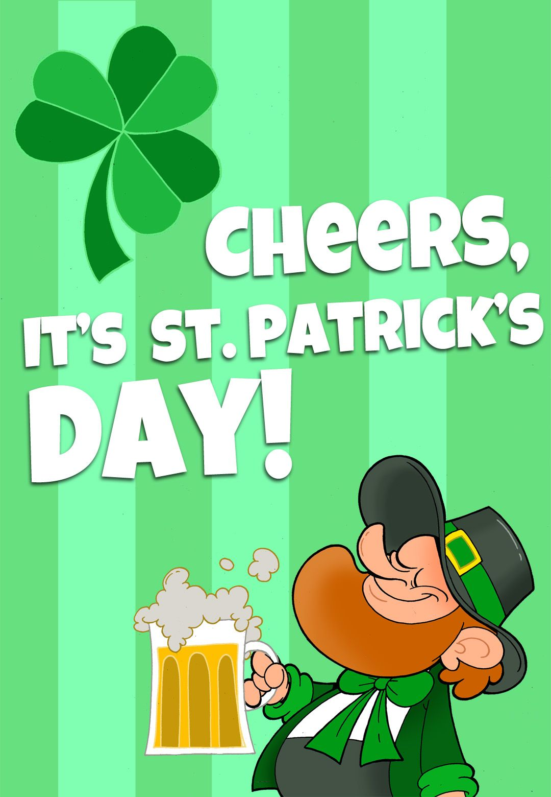 Free Printable Its St Patricks Day Greeting Card Printable St