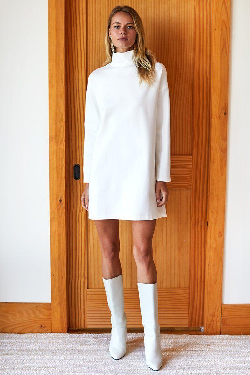 Shop All Emerson Fry Turtle Neck Dress White Winter Fashion White Dress Winter [ 1200 x 800 Pixel ]