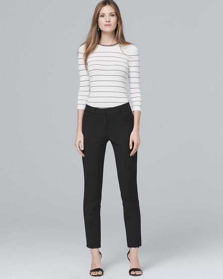 937db517eb5c Women's Modern Fit Comfort Stretch Slim Ankle Pants by White House Black  Market
