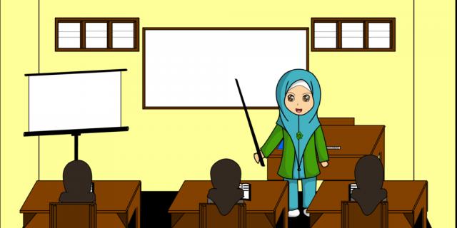 80+ Gambar Animasi Guru Mengajar Terbaik