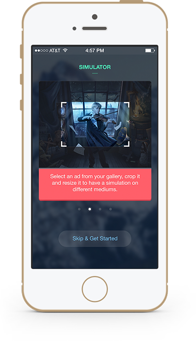 Simulation App by Mikha Makhoul, via Behance | iOS Apps