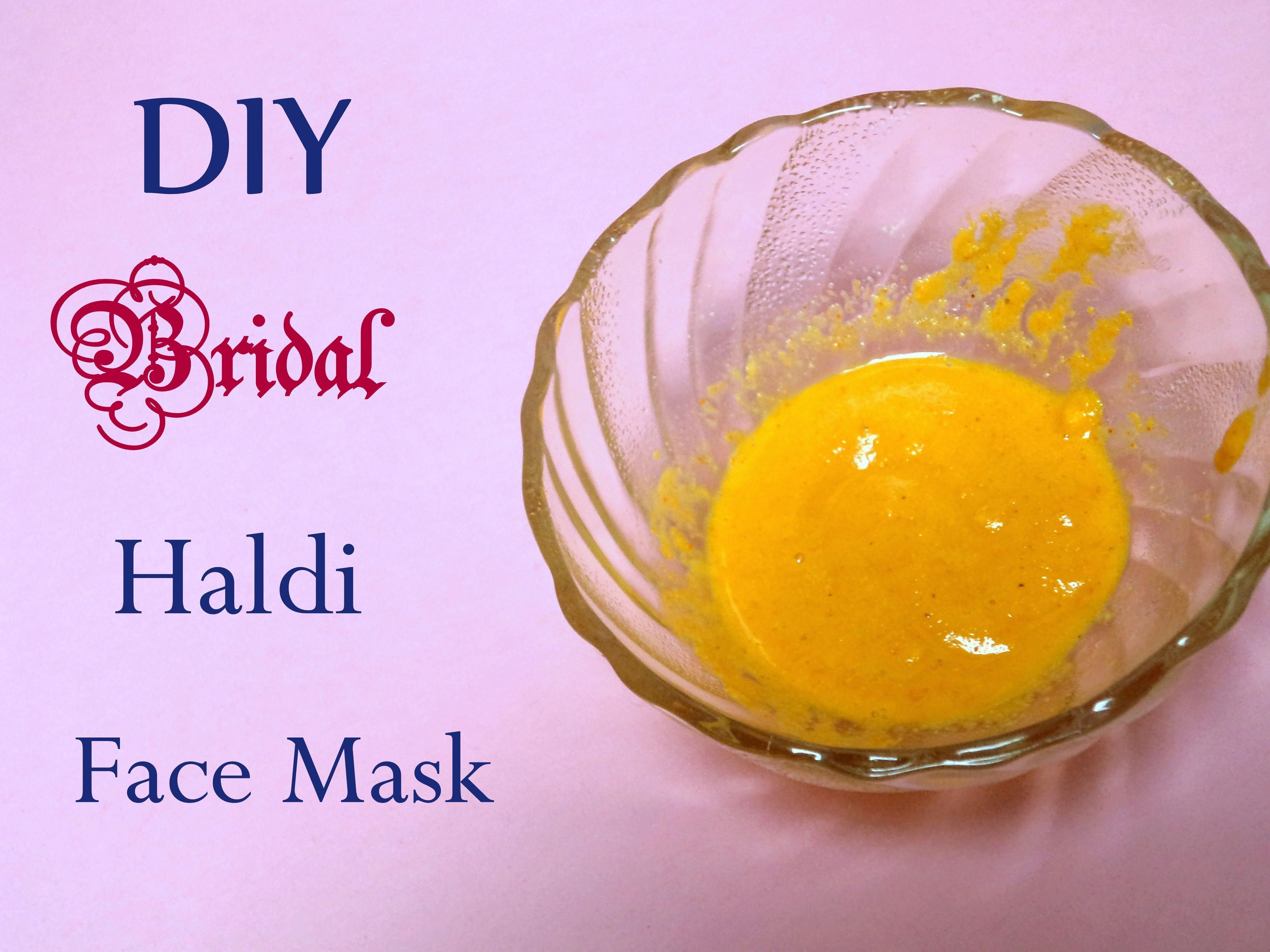 Home made ubtan recipe using haldi and besan as