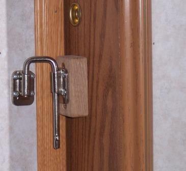 Improving An Rv Bathroom Door Door Latch Doors Black Door Handles