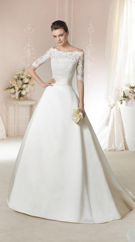 White One Wedding Dresses Style Janais