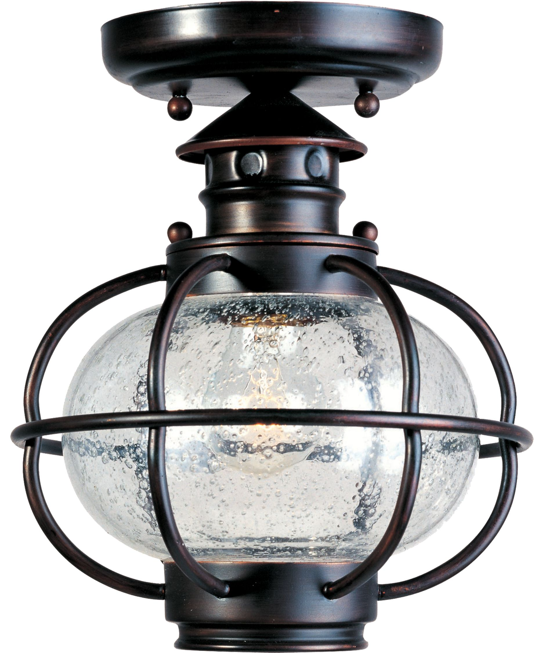 Portsmouth 8 Inch 1 Light Outdoor Flush Mount By Maxim
