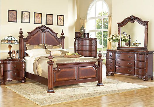 picture of Rosabelle King Dark Pecan 5Pc Panel Bedroom from King Bedroom  Sets Furniture   Furniture to build   Pinterest   King bedroom  Bedrooms  and Room. picture of Rosabelle King Dark Pecan 5Pc Panel Bedroom from King