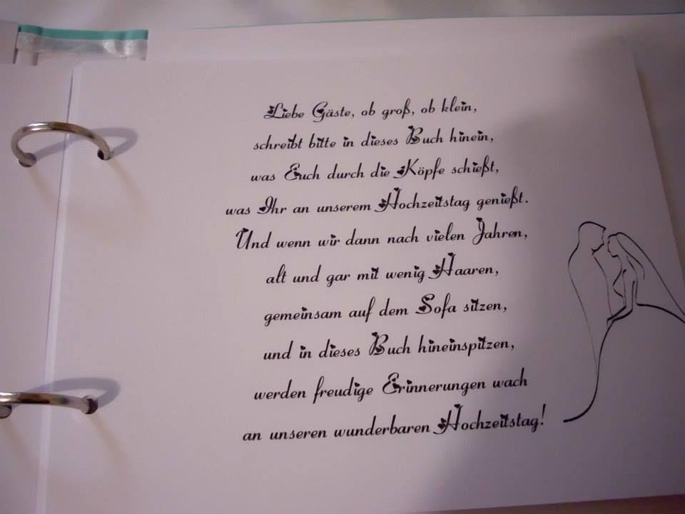 Spruch fürs gästebuch trauzeugen Gästebuchsprüche, Verse,