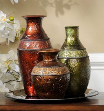 Mosaic Band Vase Set Of 3 Decorating Ideas Pinterest Mosaics
