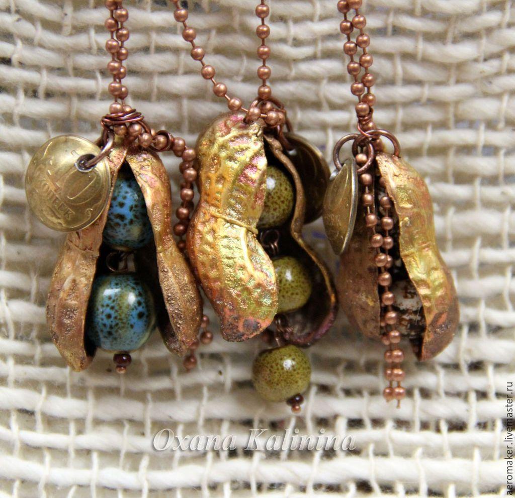 Купить Подвеска peanut разноцветный арахис орех боб растение
