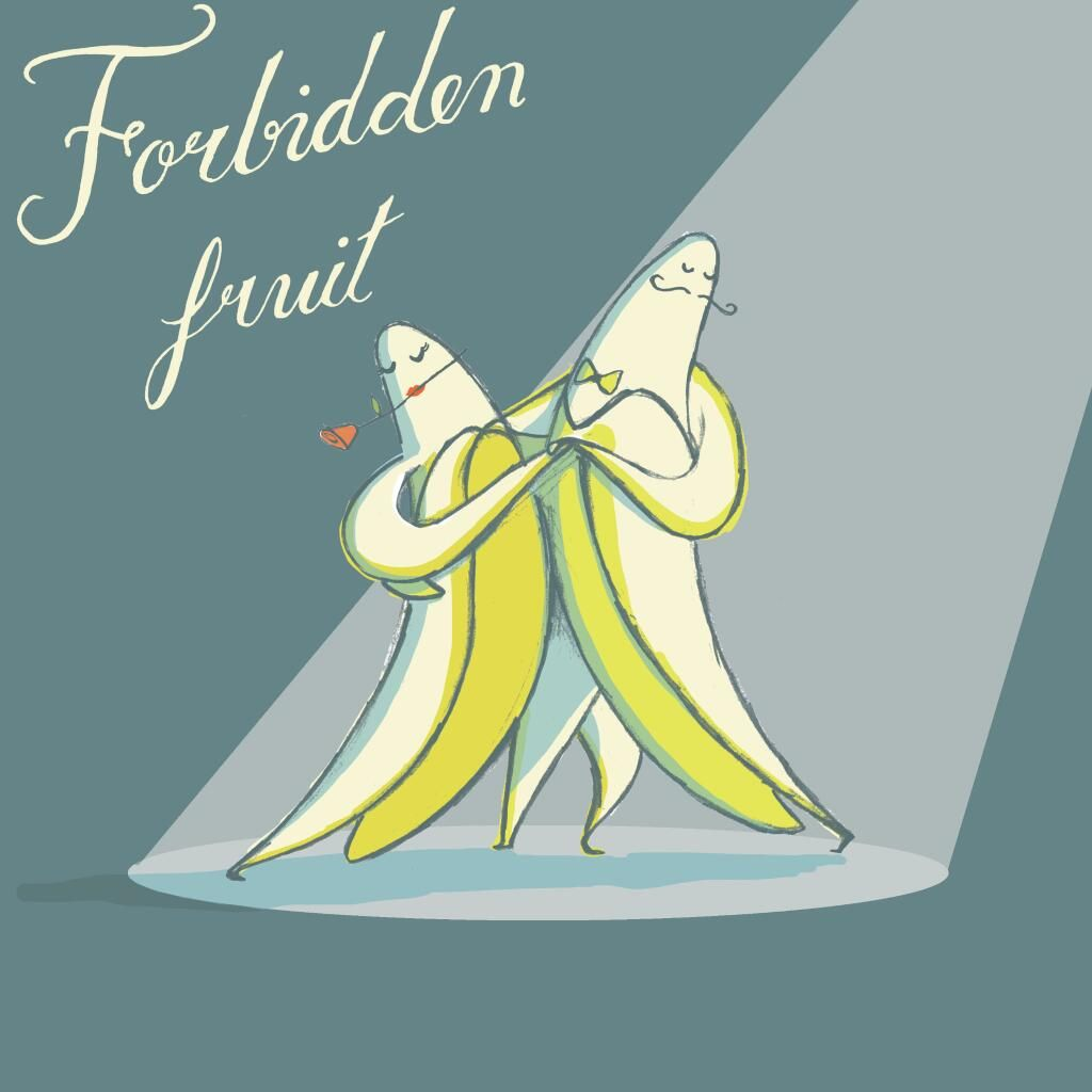 Forbidden fruit! @Daily__Doodle #dancingbanana pic.twitter.com/wsH3hXVR3A