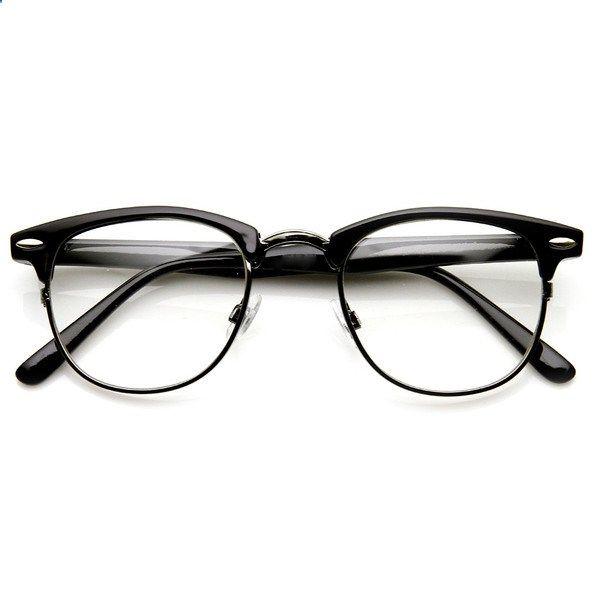 MATTE BLACK Clear Lens Eye Glasses Retro Classic Nerd Smart Eyewear Horn Rim