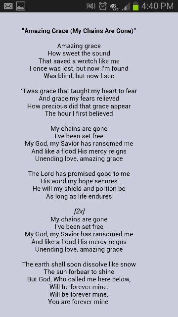 Chris Tomlin Amazing Grace Christian Song Lyrics Praise