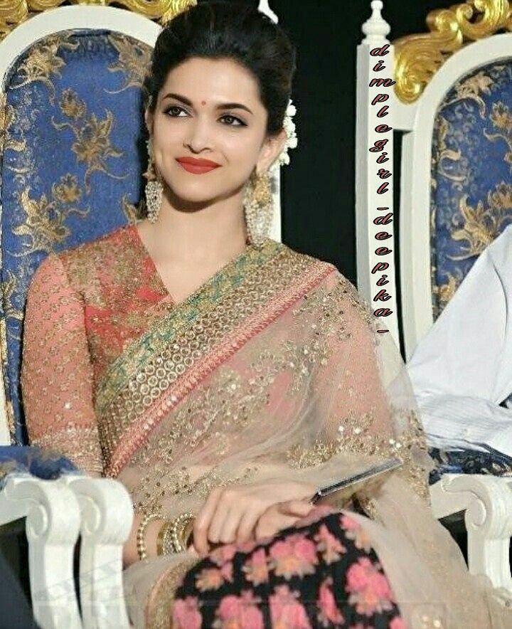 Deepika Padukone   Deepika padukone saree, Bollywood ...