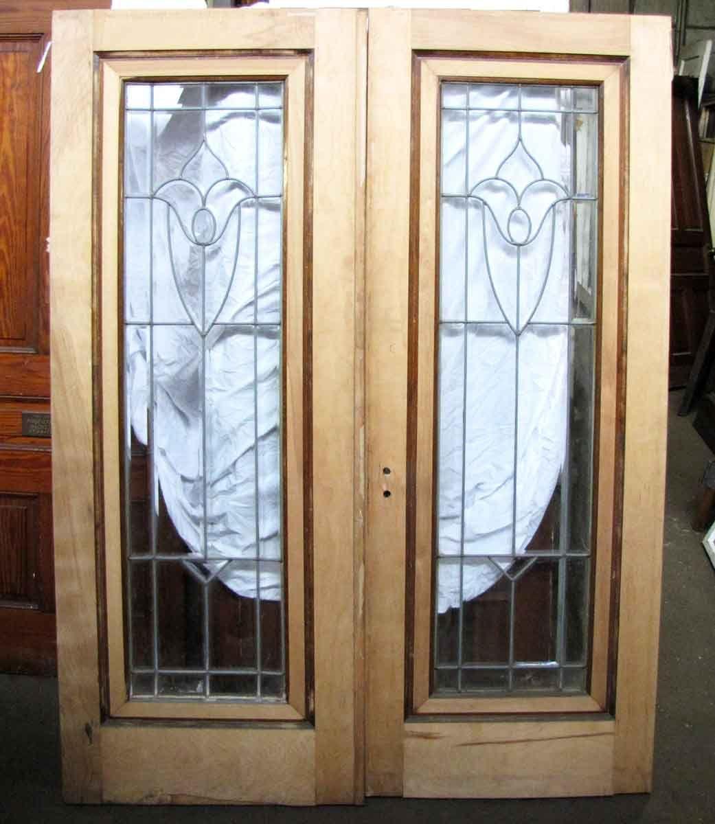 Pair Of Leaded Glass Doors Glass Doors Doors And Glass Panels