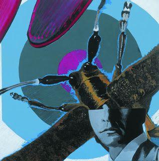 paula mota homem bicho, bug man 2003, acrílco s/tela 60x60cm