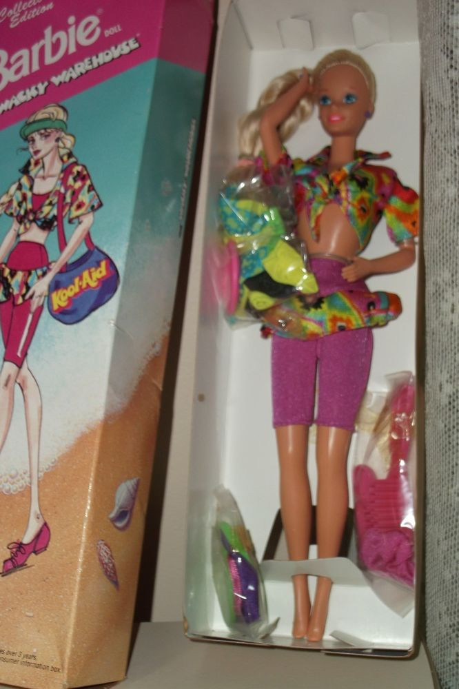 1992 Collectors Edition Kool-Aid Barbie Doll From Wacky Warehouse New In Box!