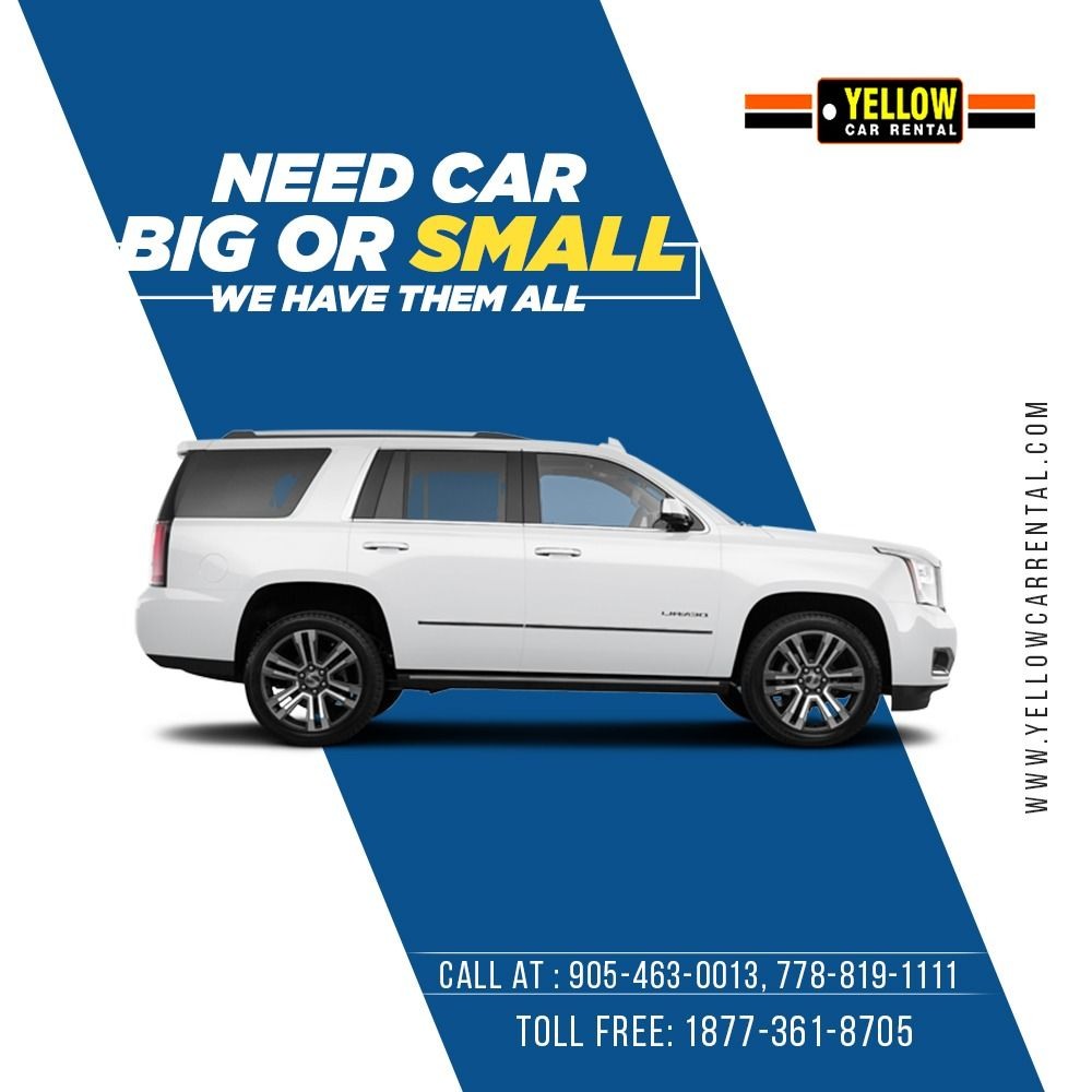 Rent Big or Small Car in 2020 Car advertising design