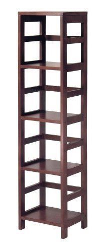 Tall Narrow Shelving Unit Wooden Display Tower Furniture Book Shelves Wood Shelf Winsome Modern Contemporary Shelving Unit Winsome Wood Shelves