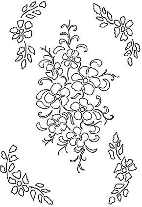 Flower free free glass painting patterns on this site