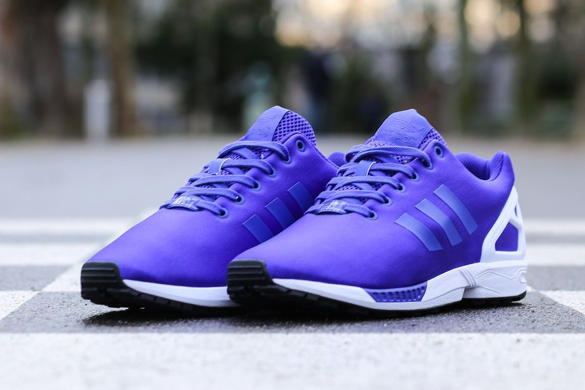 reputable site 99863 2a54b Adidas Originals ZX Flux Purple Flash B34508 $199.00 ...