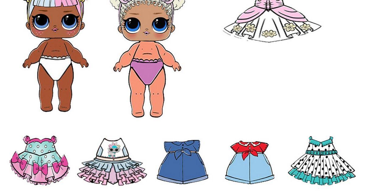 Картинки про бумажных кукол лол