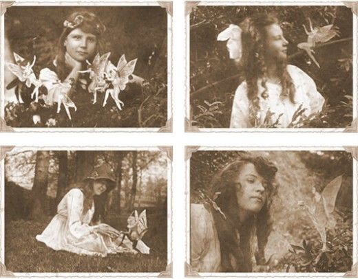 Cottingley Fairies Hoax = two girls from England took photographs of each other with paper-cutout fairies. The pictures were believed by many to be real proof of fairies.