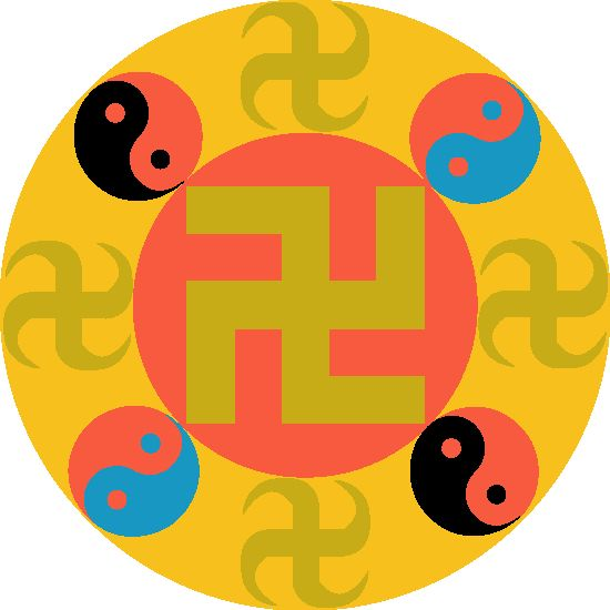 A Buddhist Swastika Is Left Facing Swastika Is More Than 3000 Year