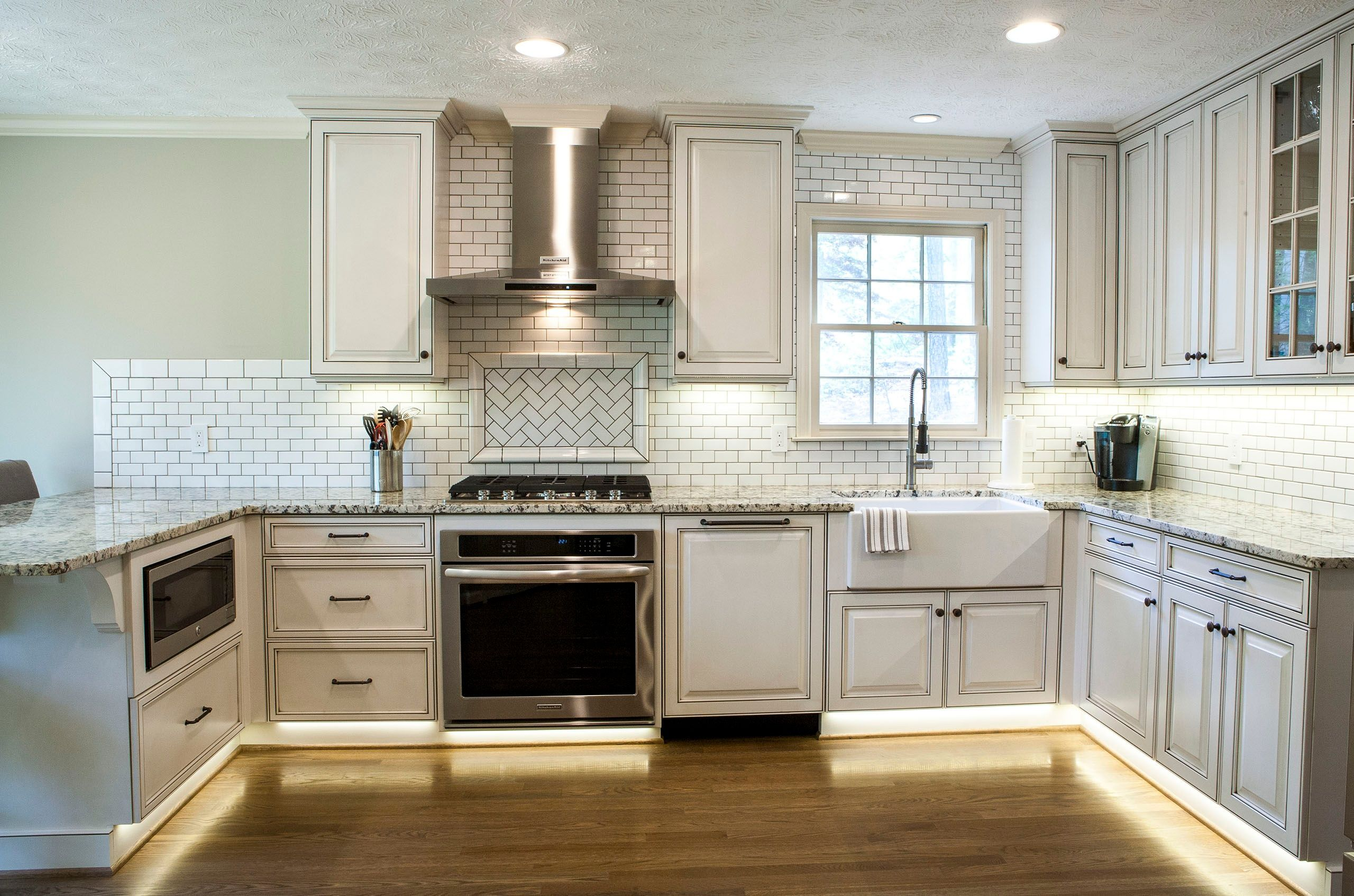 Under-cabinet lighting can really accentuate a backsplash ...