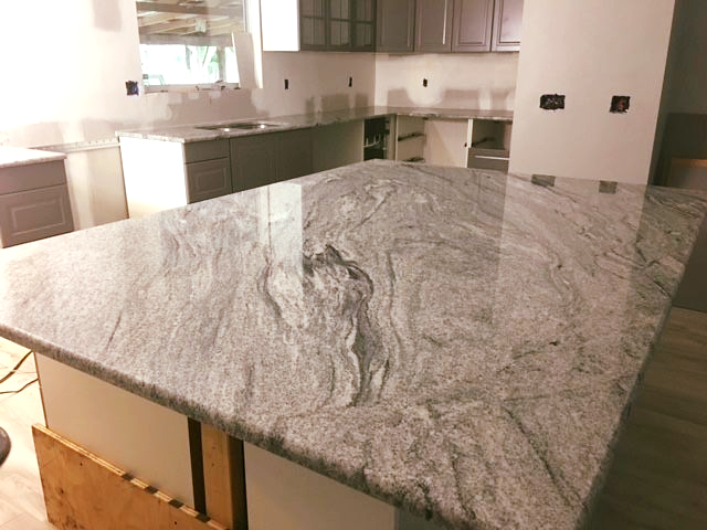 Magnificent White Seagull Color Granite Used For Kitchen