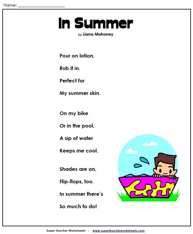 This Is A Cute Poem About Summer For All Of You With Summer Fever