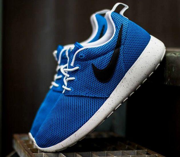 all blue roshe run