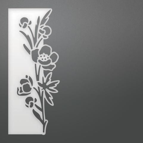 """Couture Creations On The Edge Die - Verbascum Stems Footer, 2.2""""X5.5"""""""