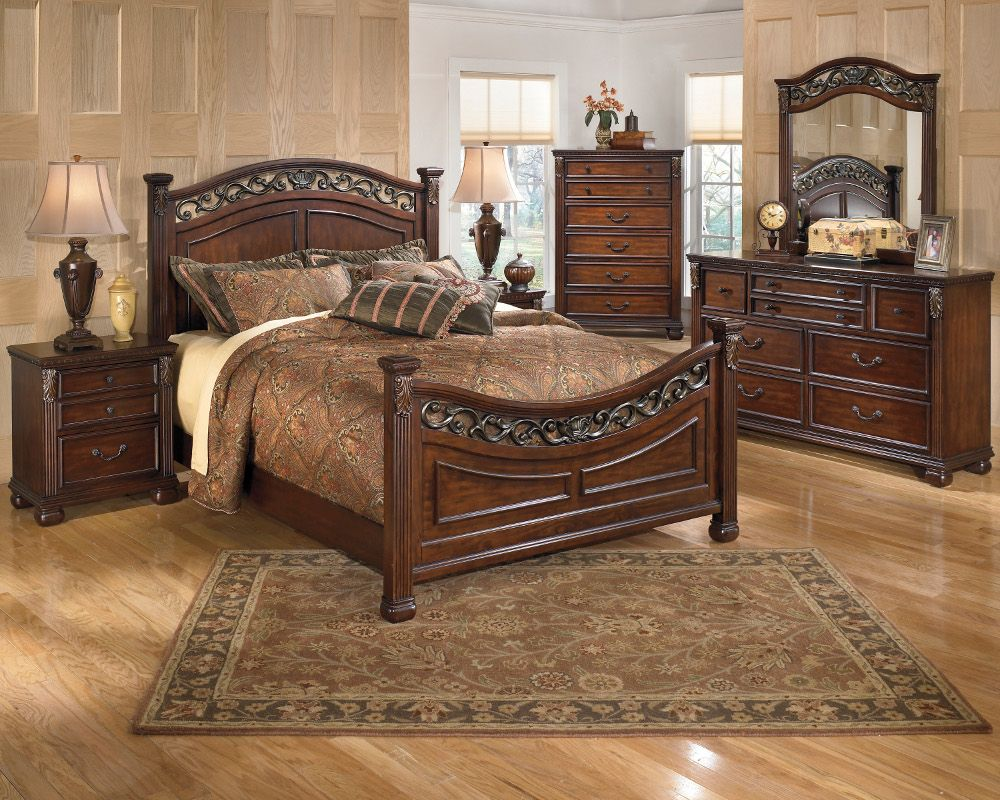Selma 6pc Cherry Queen Bedroom Set At Famsaus Easy Credit Famsa
