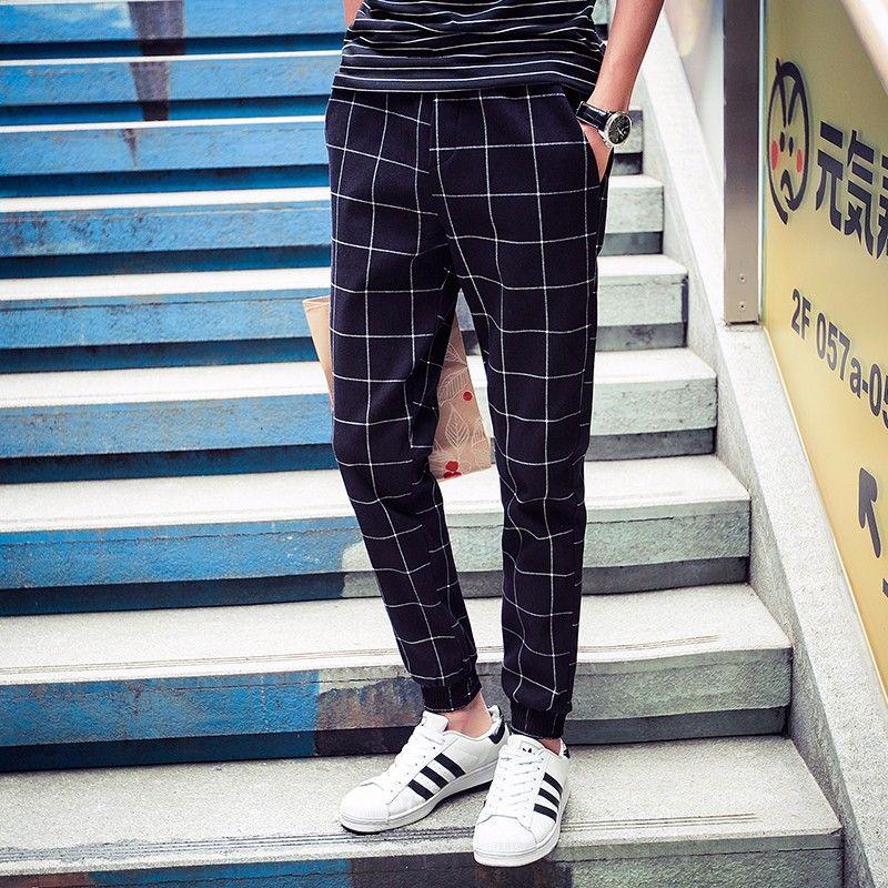 b3530ba0834b Mens Joggers Pants Hip Hop 2017 New Men Pants Skinny Plaid Sportswear Track  Pants Harem Sweatpants Trousers Man Joggers-in Harem Pants from Men s  Clothing ...