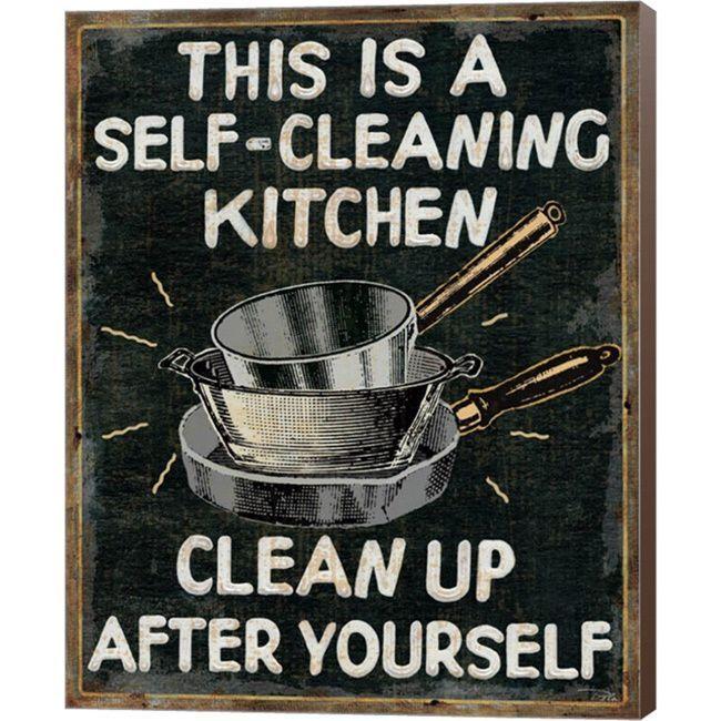 Pela Studio 'Self Cleaning Kitchen' Canvas Art