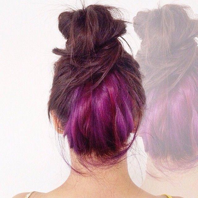 cabelo colorido na nuca underlayer