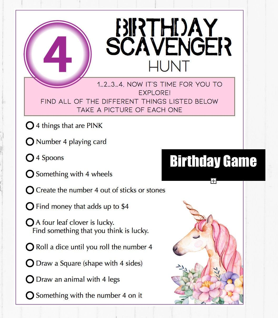At home birthday scavenger hunt game play with family or ...