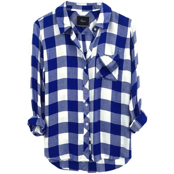 6c0af93d Rails Hunter Shirt - Cobalt Blue And White Check (2.808.850 IDR) ❤ liked on  Polyvore