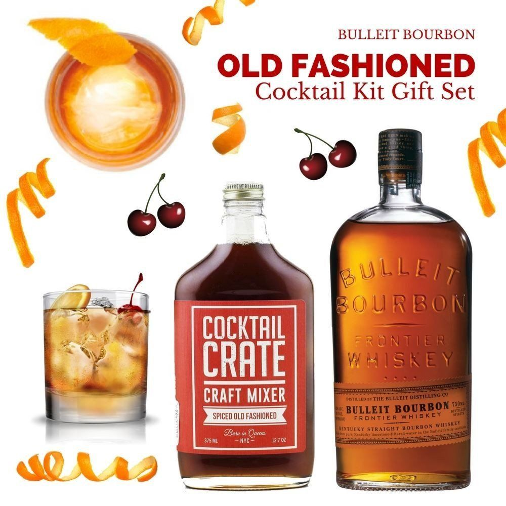 Bulleit Bourbon Old Fashioned Cocktail Kit Gift Set