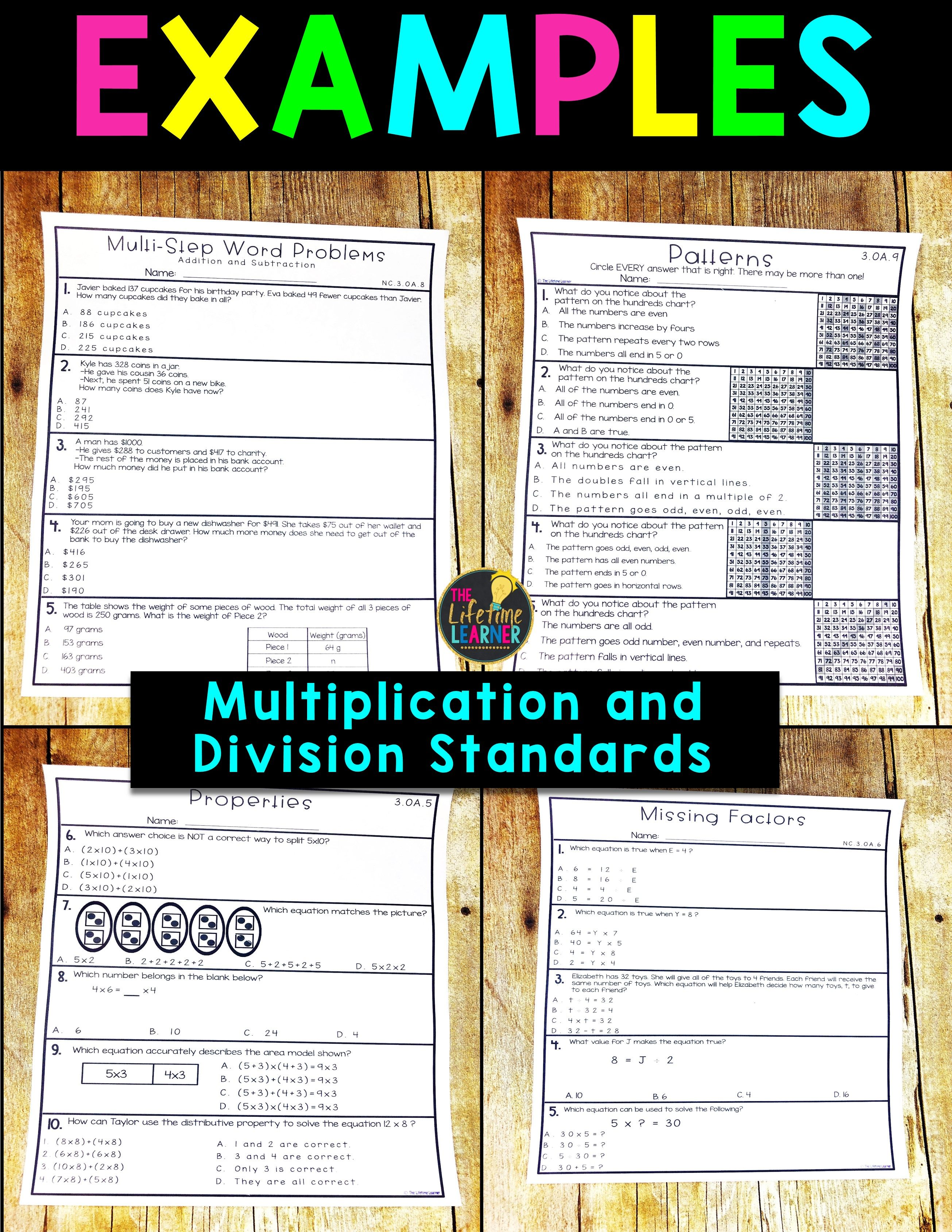 Multiplication And Division Worksheets 3rd Grade Math Worksheets Solving Word Problems 3rd Grade Math Worksheets Common Core Math Fractions