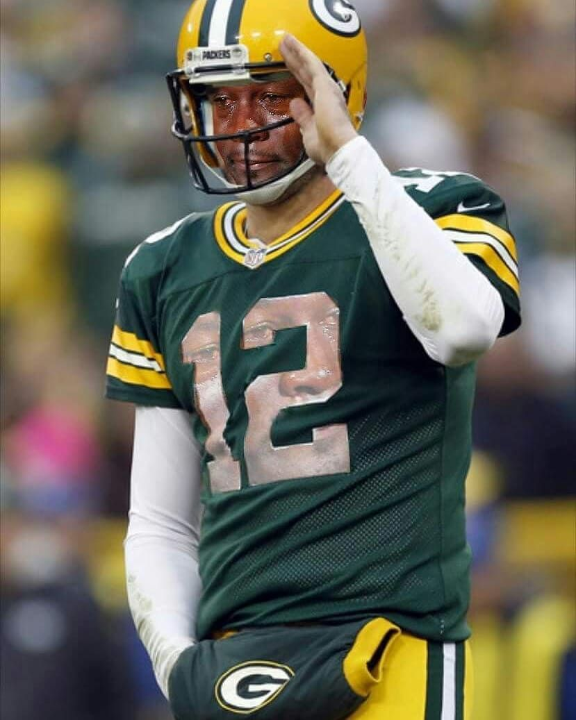Back On The Ir List Cryingjordanface Cryingjordan Green Bay Packers Packers Aaron Rodgers