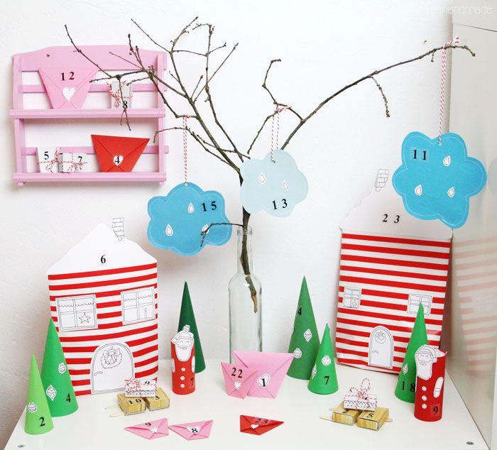 lu loves handmade: DIY Video with DaWanda: Winter Wonderland Advent Calendar