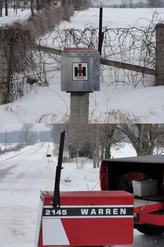 Custom IH Mailbox made by Brandyn Warren (posted on